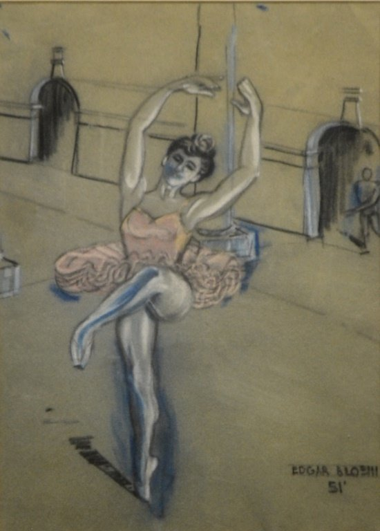 Pastel on Paper of a Ballerina