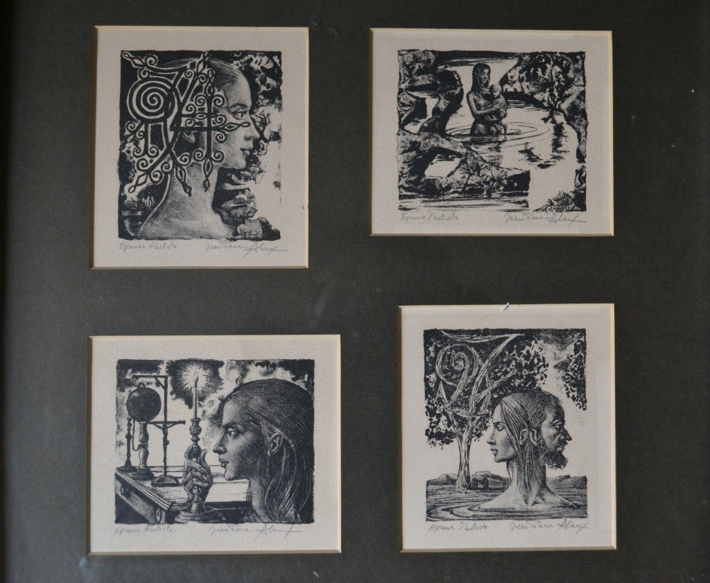 Jeane Pierre Woodcut Print