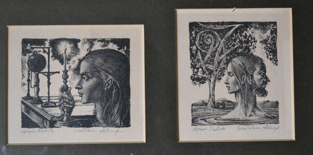 Jeane Pierre Woodcut Print - 2