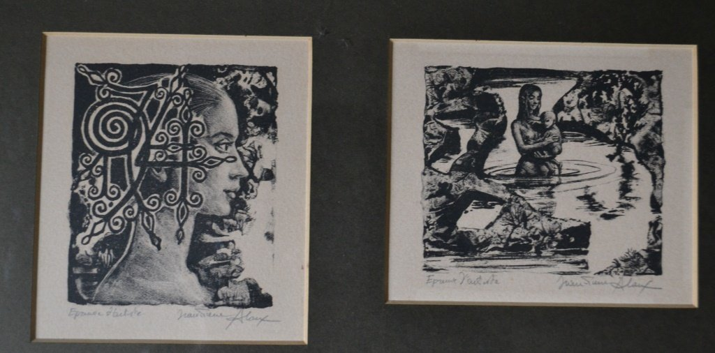 Jeane Pierre Woodcut Print - 3