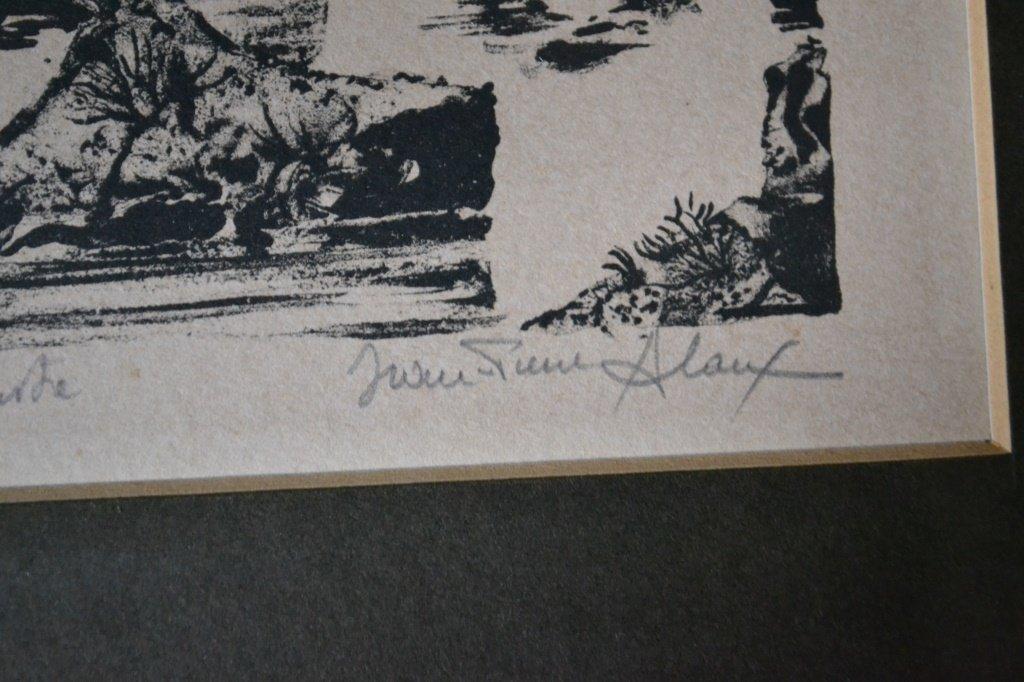 Jeane Pierre Woodcut Print - 4