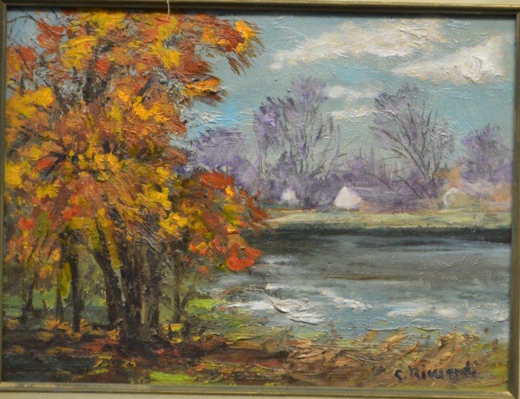 Cesare Ricciardi (1892 - 1973) Landscape Oil