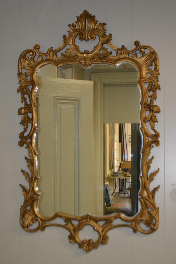 Giltwood Rococo Style Mirror