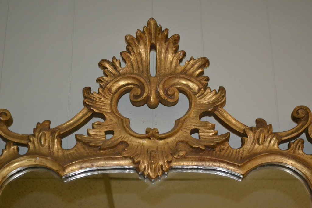 Giltwood Rococo Style Mirror - 2