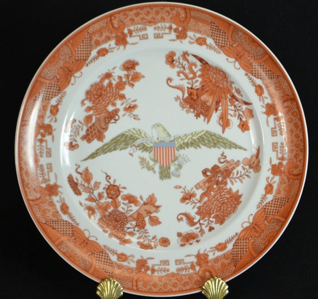 "Mottahedeh Orange Fitzhugh 10"" Plate"