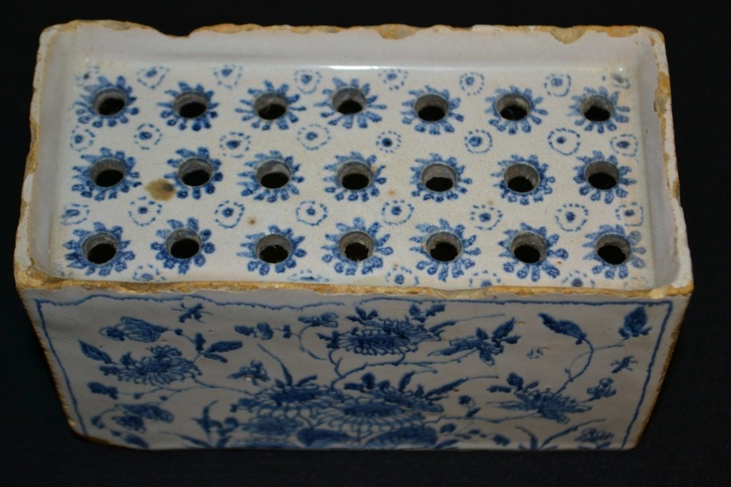 English 18th Century Delft Flower Brick - 3