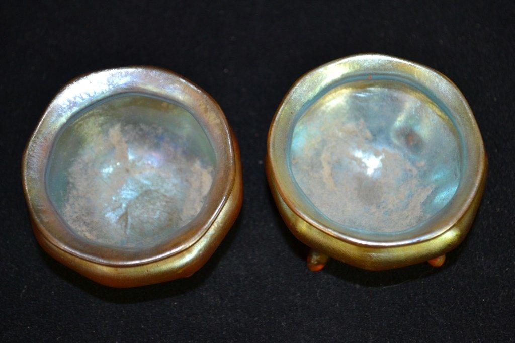 Pair of Tiffany Favrile L.C.T. Glass Salts - 2