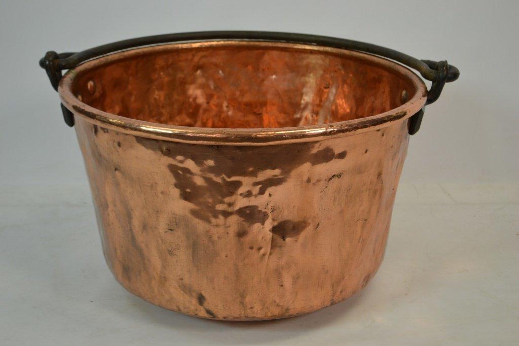 Copper Signed Apple Butter Kettle J. P. SCHAUM