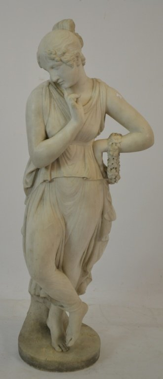 Late 19th c. Early 20th c. Marble Statue of Woman