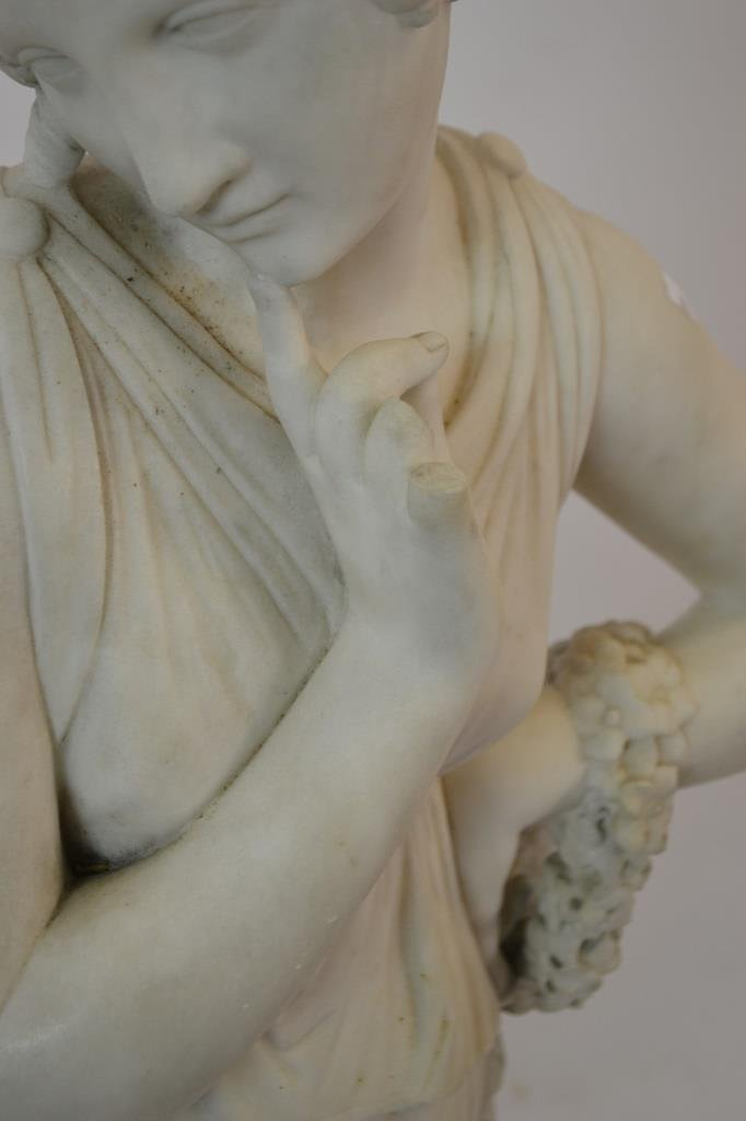 Late 19th c. Early 20th c. Marble Statue of Woman - 2