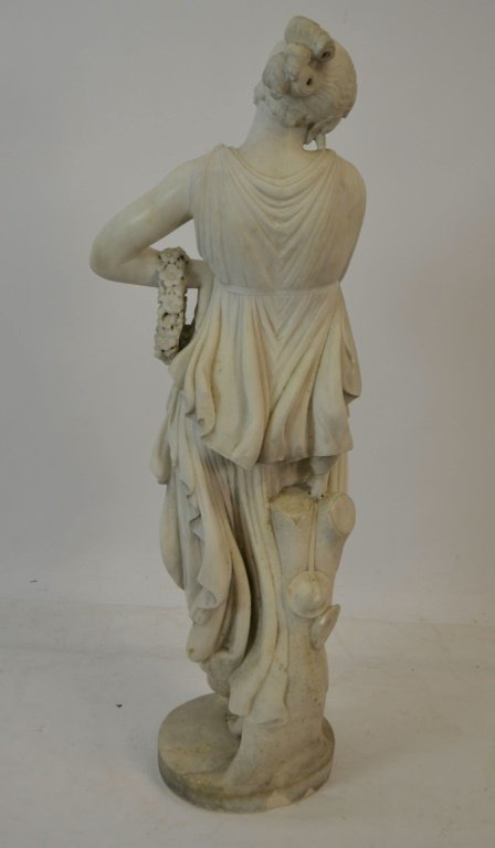 Late 19th c. Early 20th c. Marble Statue of Woman - 5
