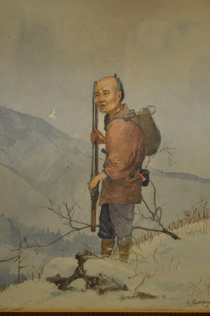 K. Kowhama Japanese Watercolor Early 20th C Nikko - 2