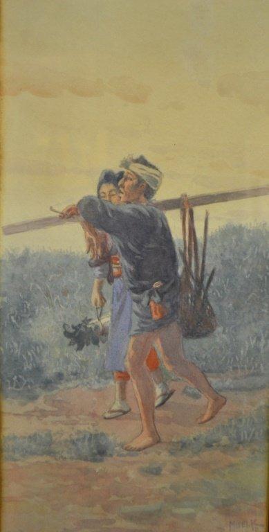 Misei. K Original Japanese Watercolor - 2