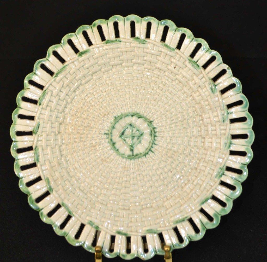 Staffordshire Basket Weave Plate Circa 1780