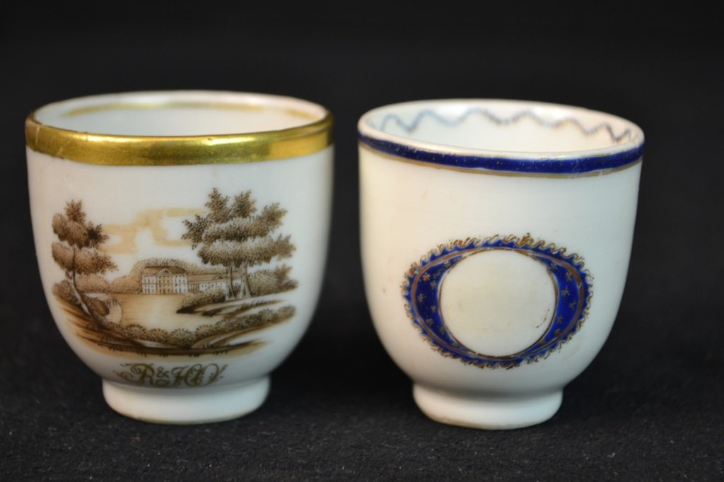 3 Chinese Ceramic Cups in Various Styles - 3