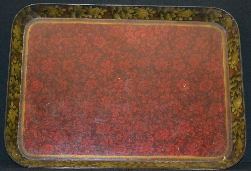 English Regency Paper Mache Tea Tray - 2