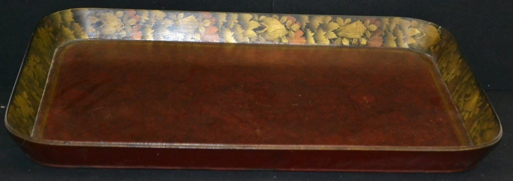 English Regency Paper Mache Tea Tray - 3