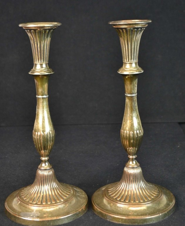 Two Pair of old Sheffield Candlesticks - 3