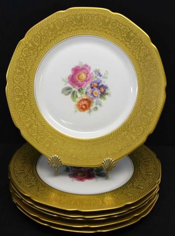 Set of Six Selb H & Co. Bavaria Dinner Plates