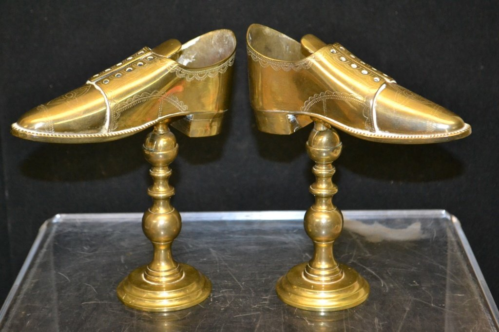 Pair of Brass Shoe Store Display & Another - 2