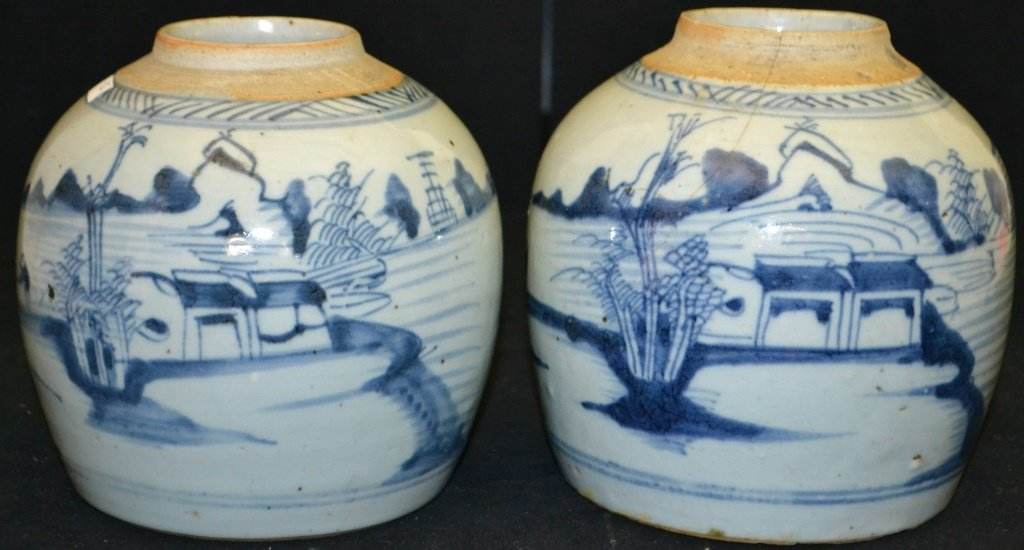Two Chinese Export Canton Ginger Jars