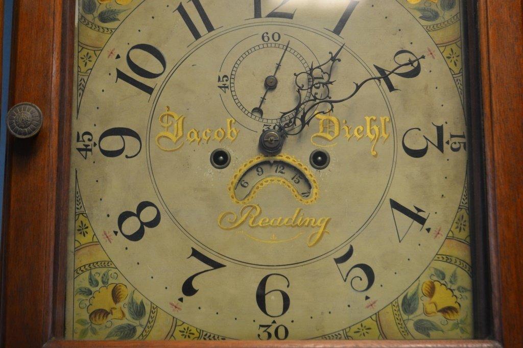 Jacob Diehl Tall Case Clock Reading, PA ca.1800 - 3