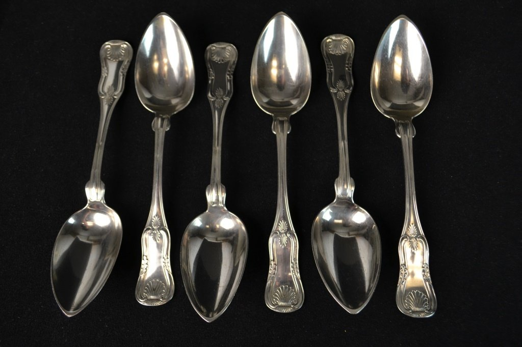 Assembled Set (6) of King Pattern Soup Spoons, NY