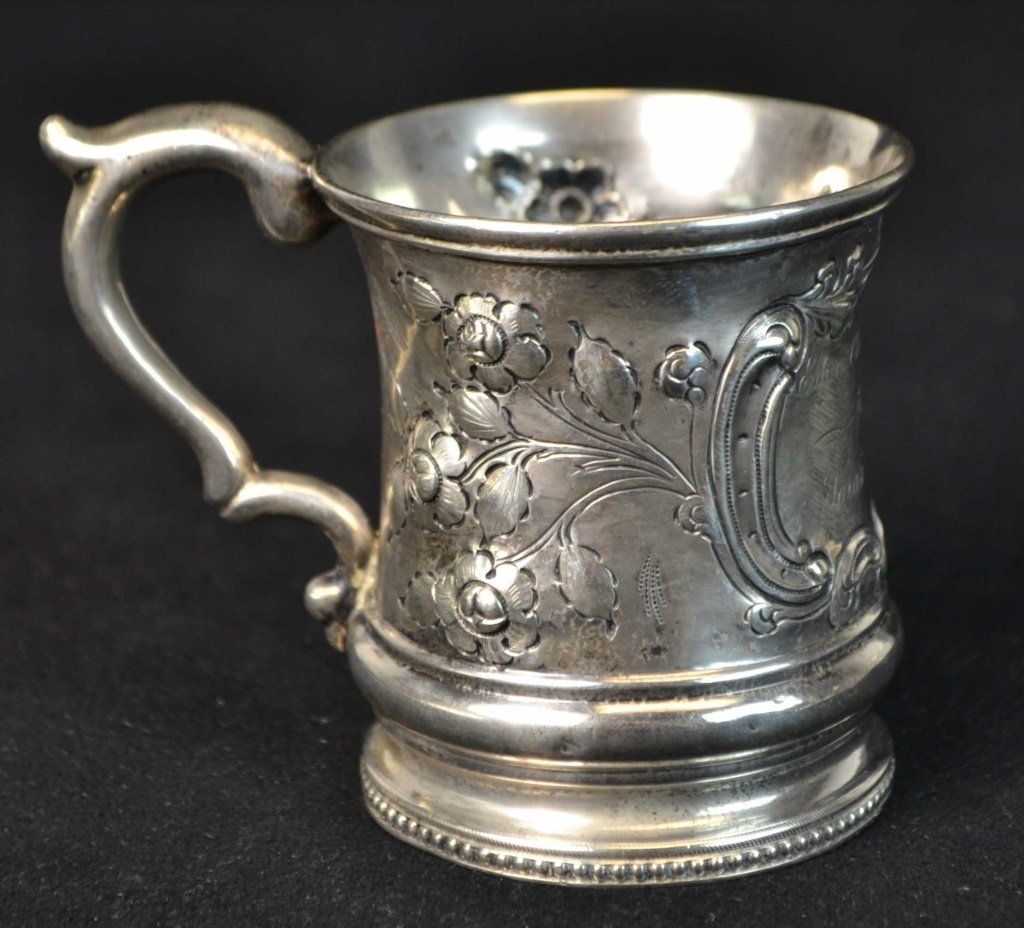 William Adams Coin Silver Child's Cup New York
