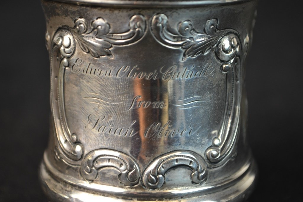 William Adams Coin Silver Child's Cup New York - 2