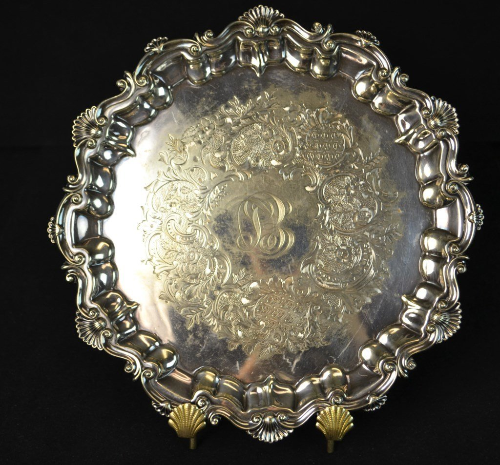20th C EPNS Silver Salver and Entree Dish - 2