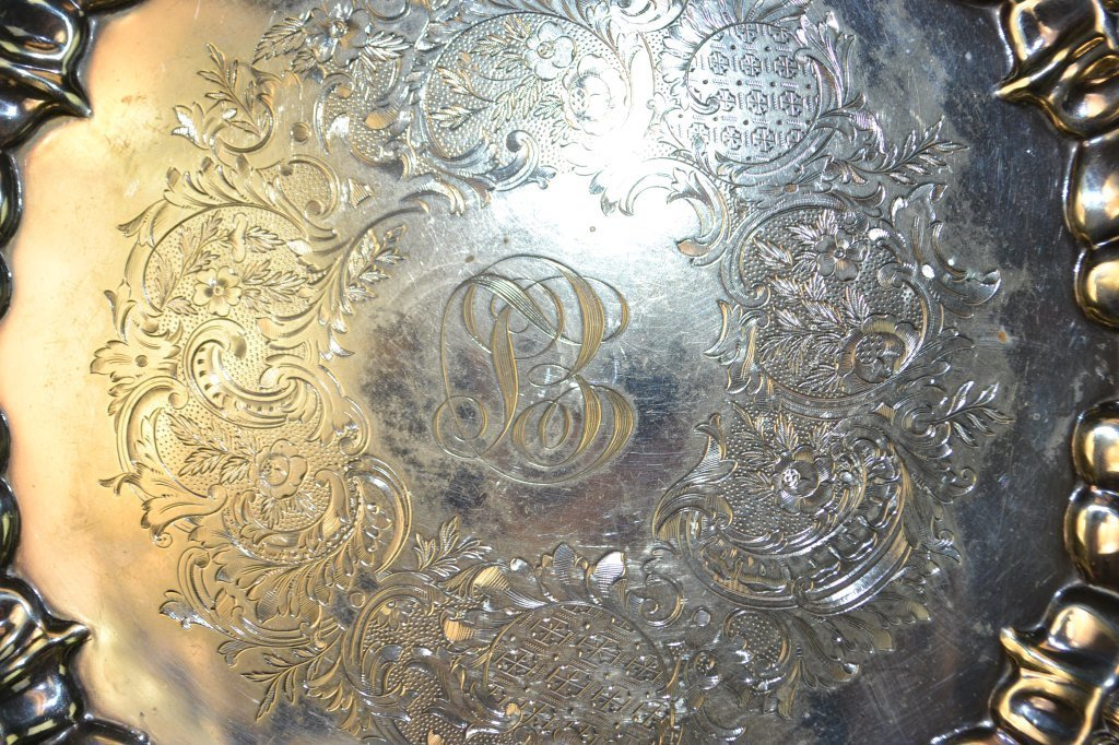20th C EPNS Silver Salver and Entree Dish - 3
