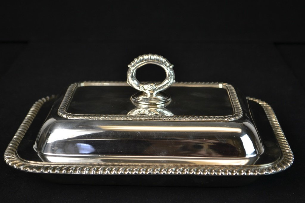 20th C EPNS Silver Salver and Entree Dish - 5