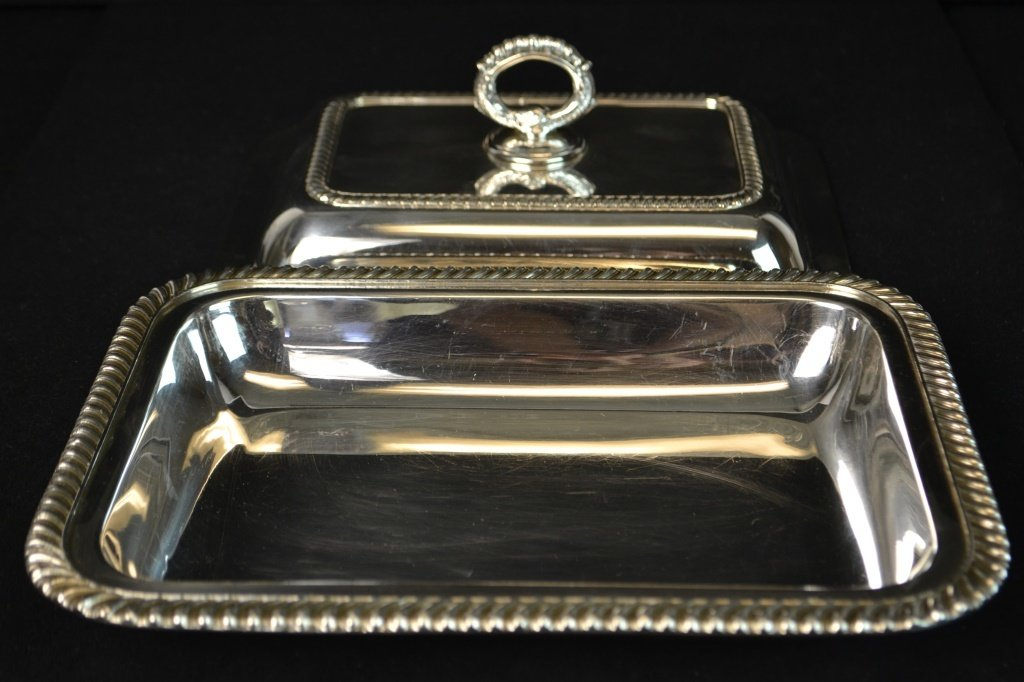 20th C EPNS Silver Salver and Entree Dish - 7