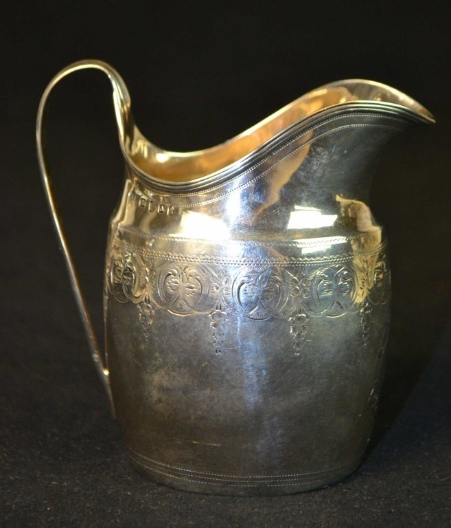 18th C London Silver Creamer Urquhart & Hart