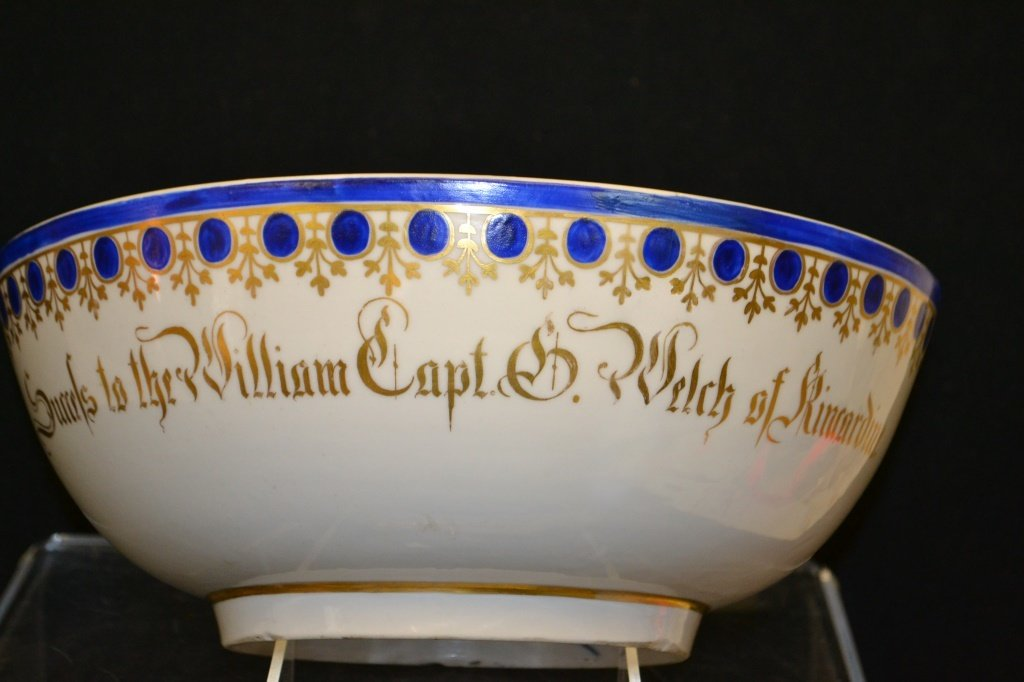 Confederate Cpt Chinese Export Bowl Inscribed