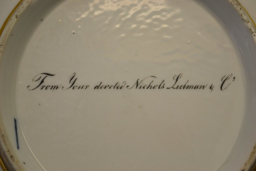 Confederate Cpt Chinese Export Bowl Inscribed - 3