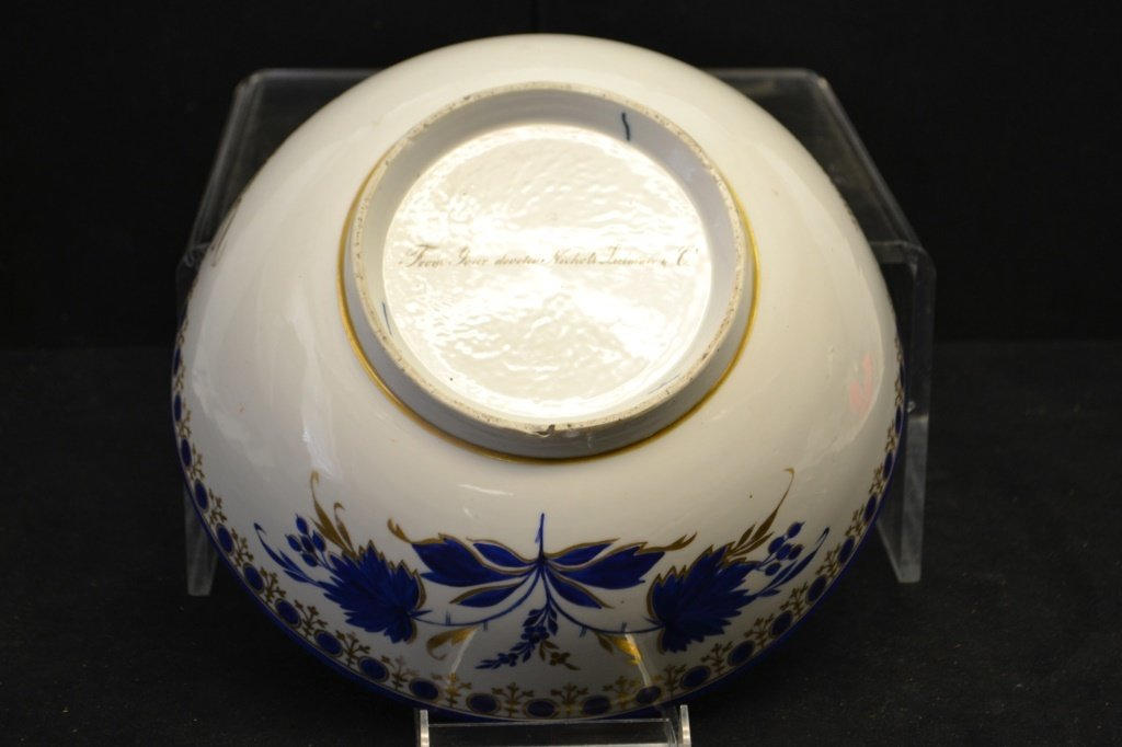 Confederate Cpt Chinese Export Bowl Inscribed - 5
