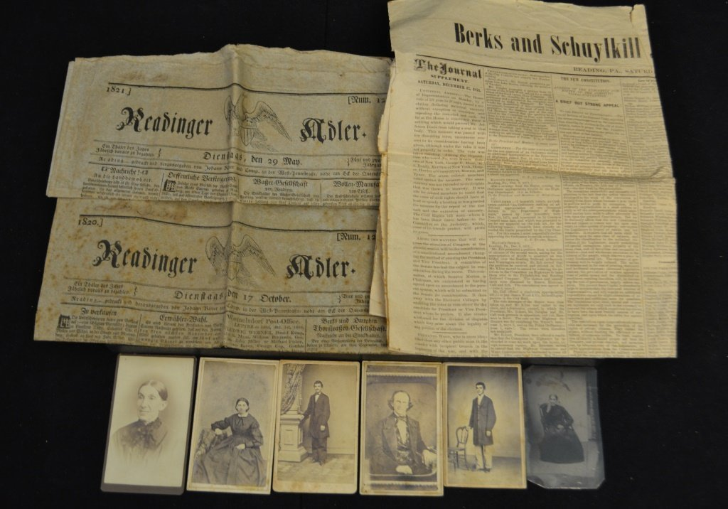 Three 19th C Reading Pa. Newspapers