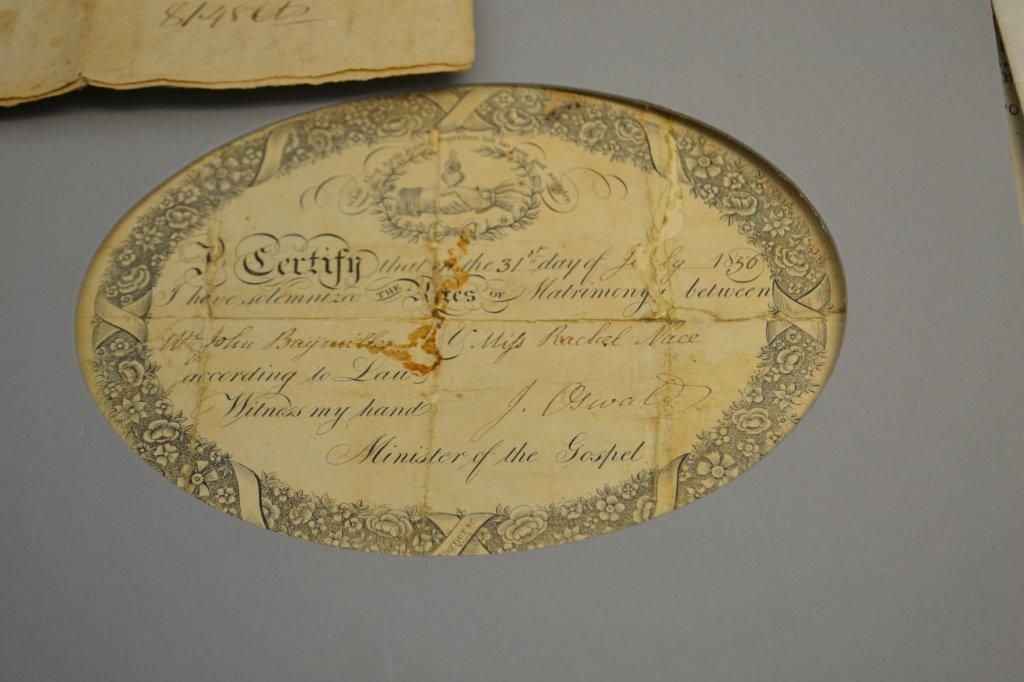 19th C Deeds & Indentures KINDIG & York Names - 2