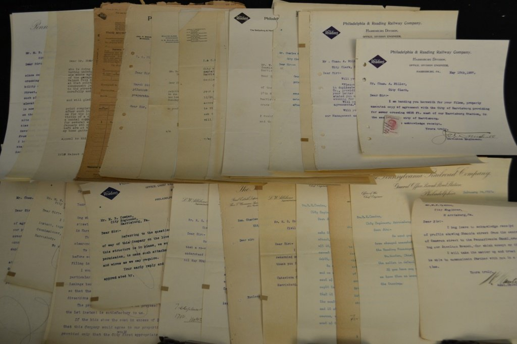Over 30 Early 20th C Pa. Railroad Documents