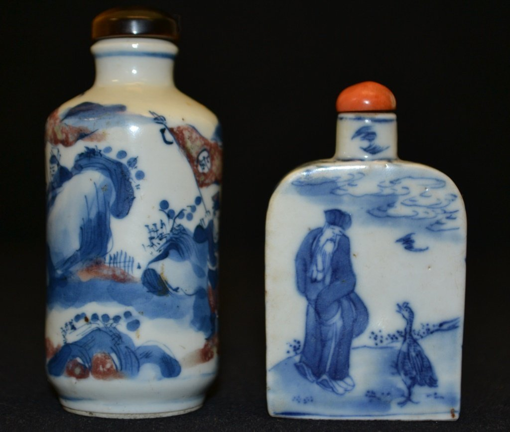 Two Chinese Porcelain Snuff Bottles - 2