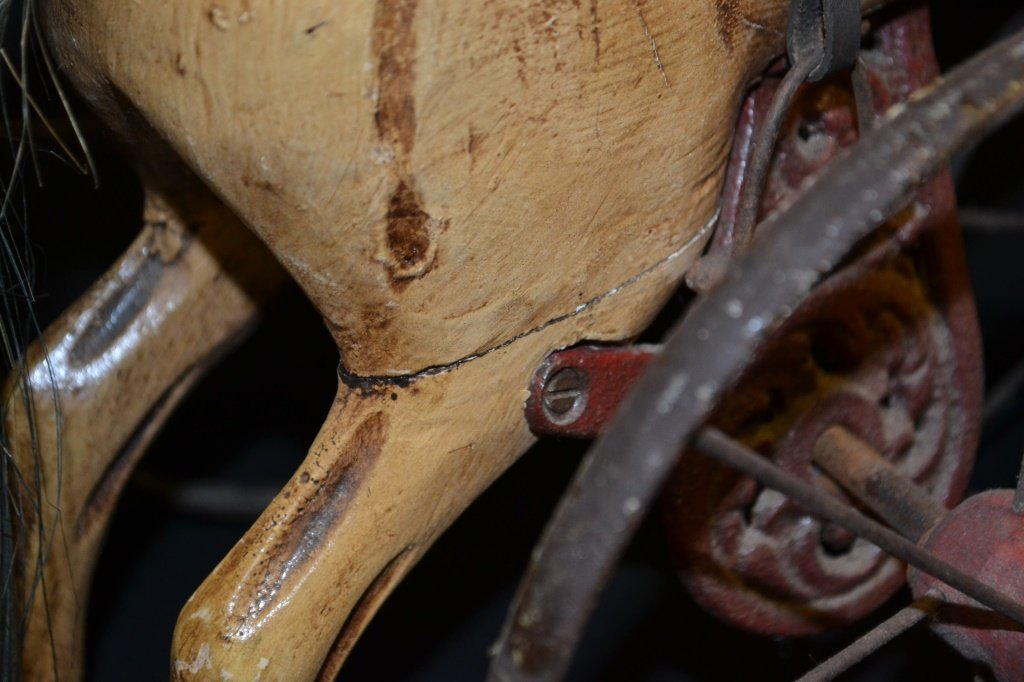 Antique Style Miniature Wooden Horse Tricycle - 4