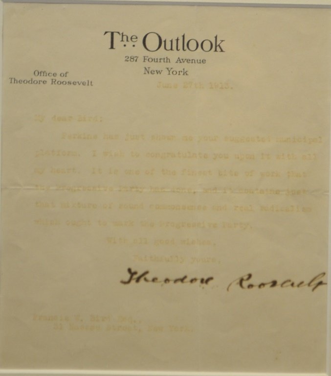 Signature of Theodore Roosevelt