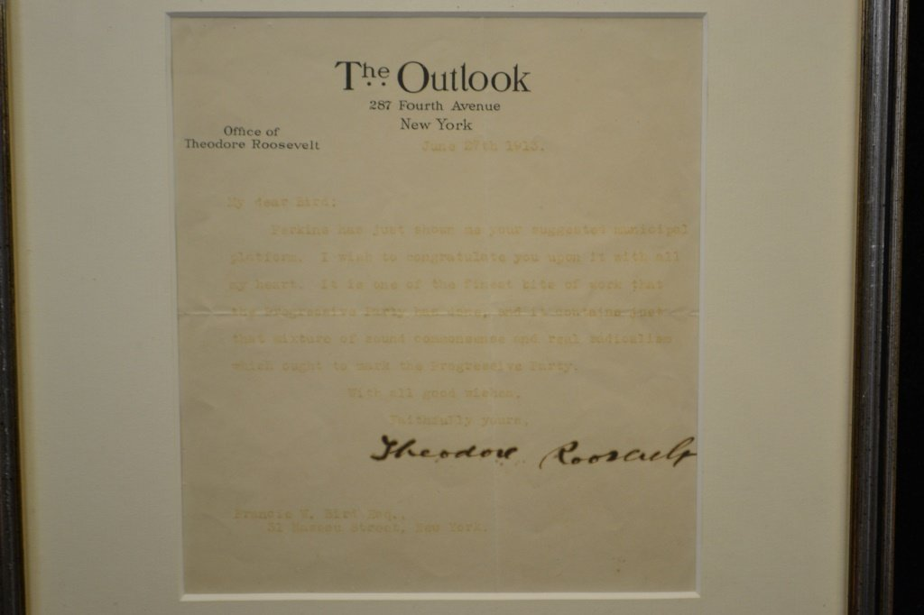 Signature of Theodore Roosevelt - 2