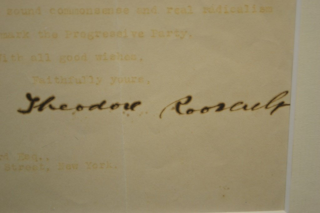 Signature of Theodore Roosevelt - 3