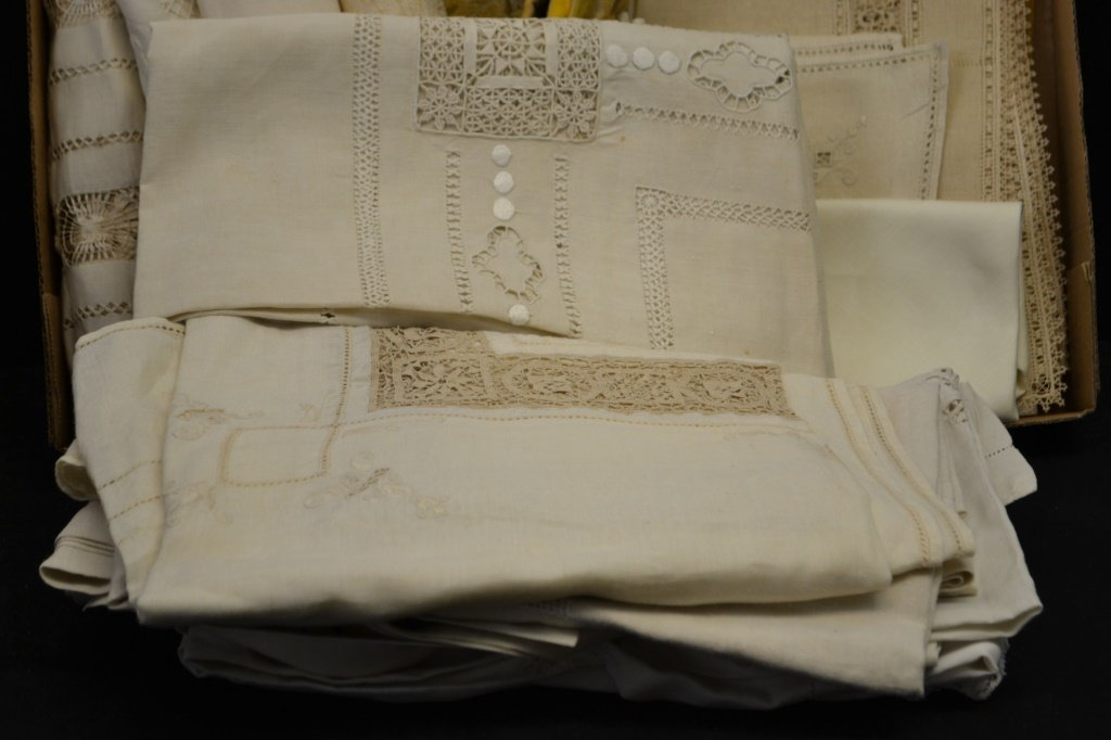 Collection of Late 19th/20th C table Linens - 2