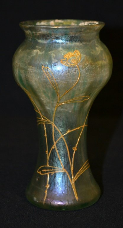 Early Hand Blown Aurene Glass Type Vase