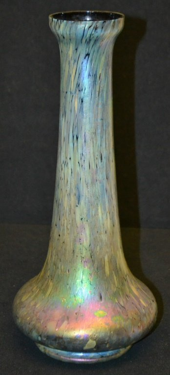 Motted Peacock Glaze Vase