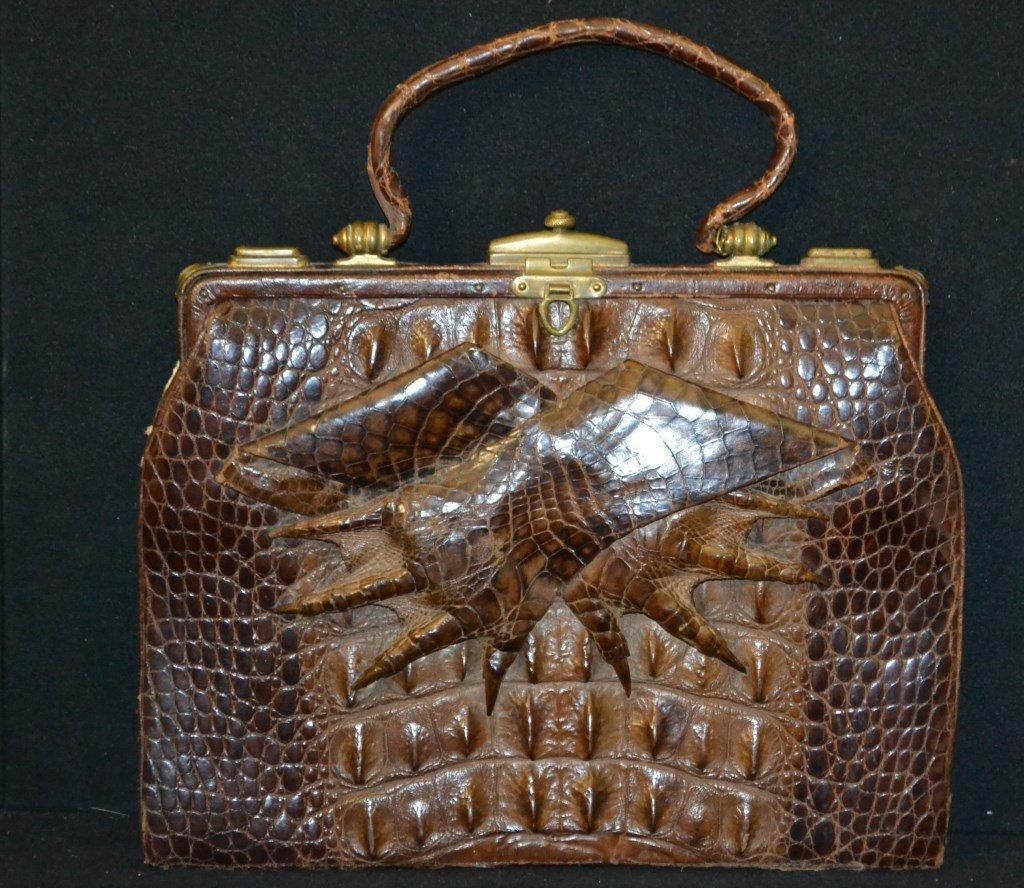 Vintage Alligator Skin Purse