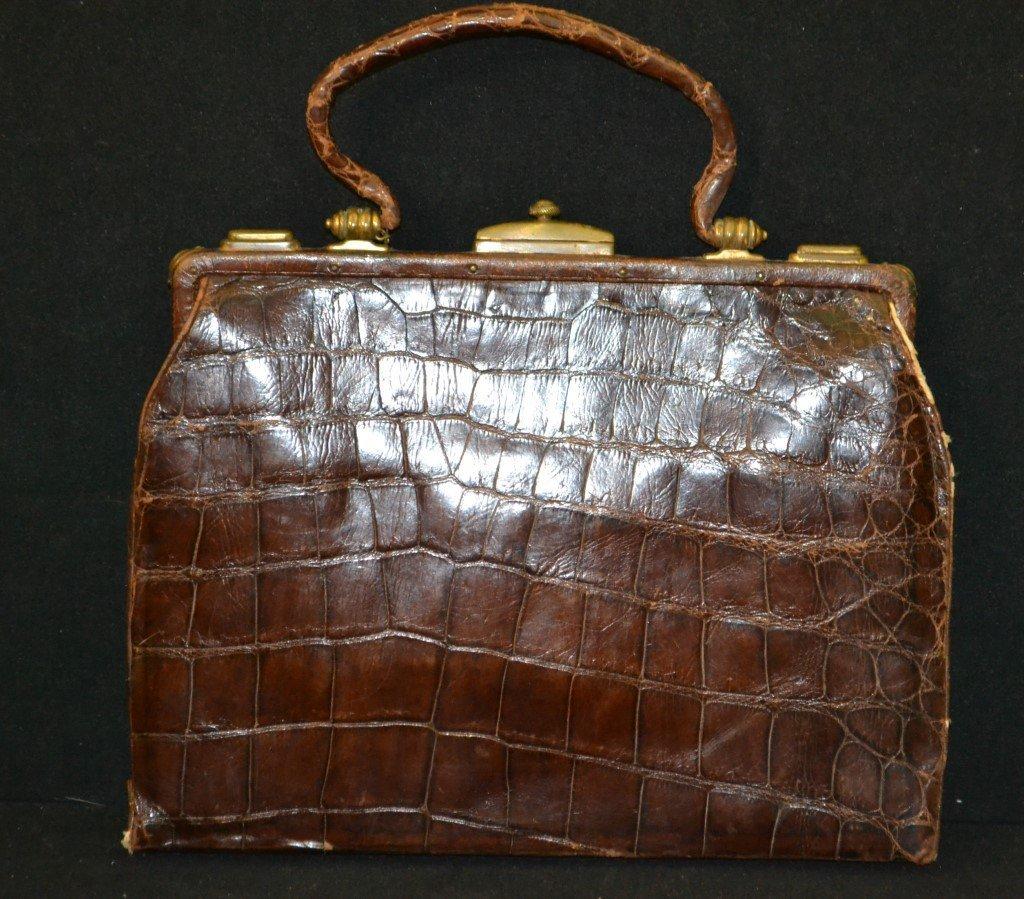 Vintage Alligator Skin Purse - 2